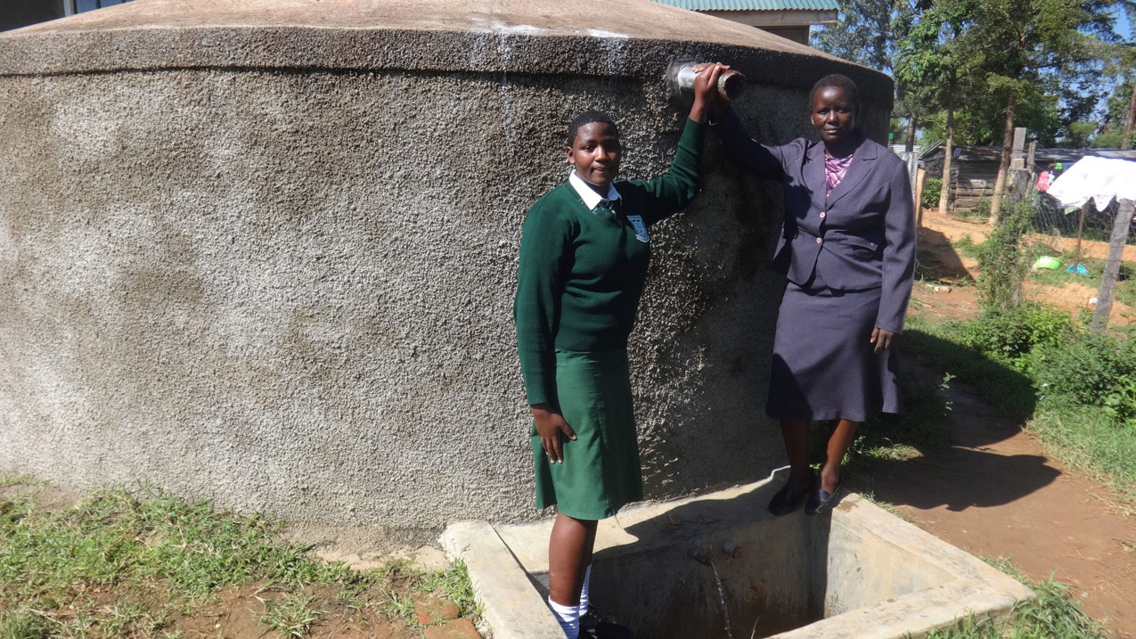 NEW update from your Water Project in Kenya - See how Nandansons Charitable Foundation helped Ibinzo Girls Secondary School